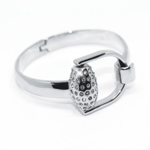 Snaffles Bit Diamante Bangle