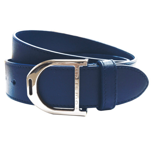 Stirrup Leather Belt - Blue Grain / Large 100cm