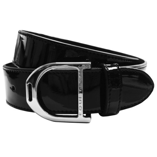 Stirrup Leather Belt - Black Patent / Large 100cm
