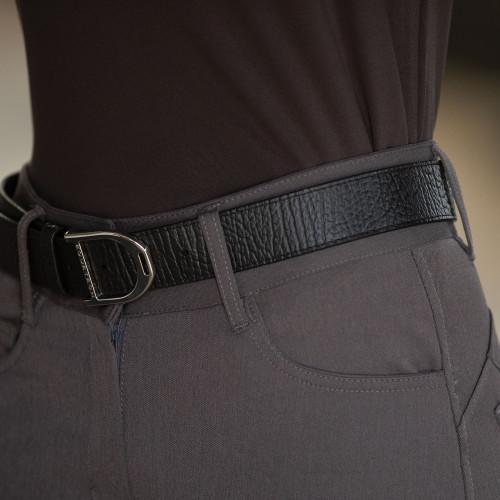 Stirrup Leather Belt 35mm - Black Texture