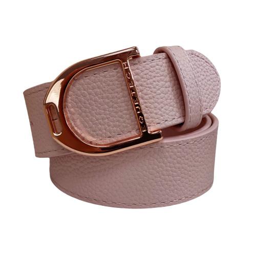 Stirrup Leather Belt 35mm - Nude Pink/Rose Gold