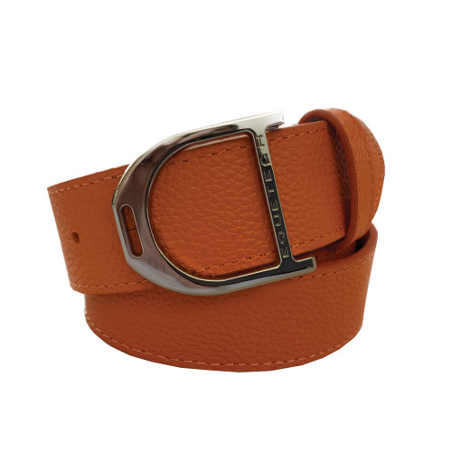 Stirrup Leather Belt 35mm - Orange