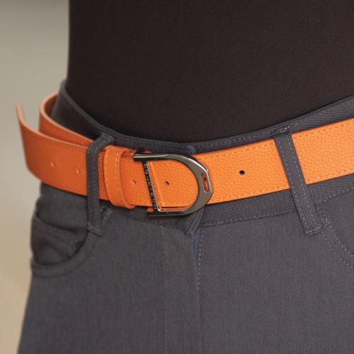 Stirrup Leather Belt 35mm - Orange