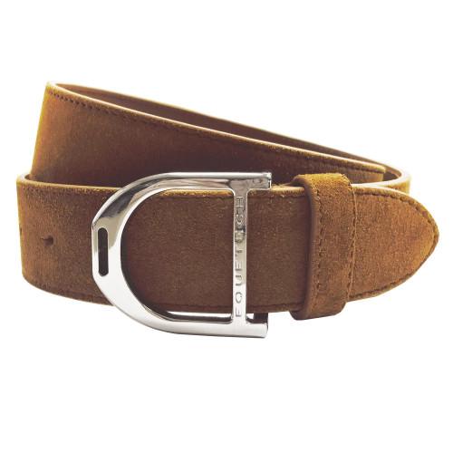 Stirrup Leather Belt 35mm - Tan Suede