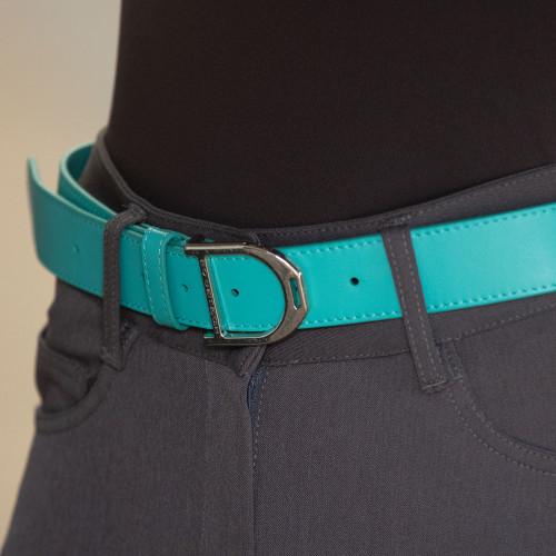 Stirrup Leather Belt 35mm - Turquoise