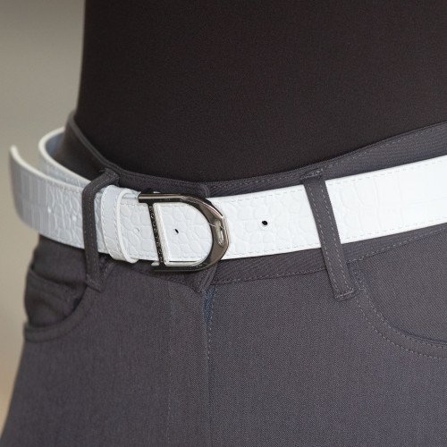 Stirrup Leather Belt 35mm - White