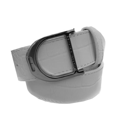 Stirrup Leather Belt 35mm - White