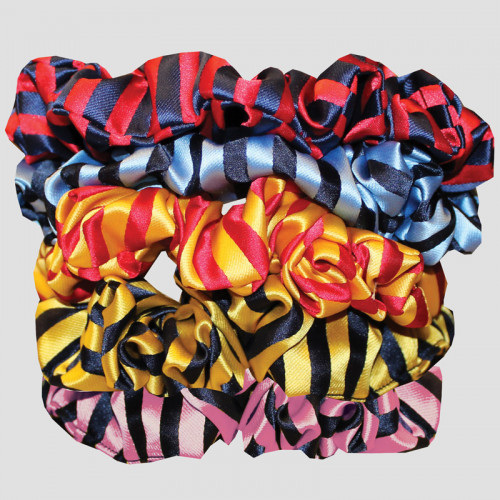Hair Scrunchie - Broad Stripe - Navy/Gold