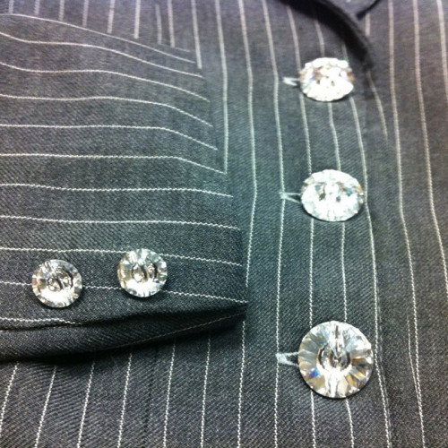Swarovski Crystal Button Set (8 pieces) - Clear Crystal