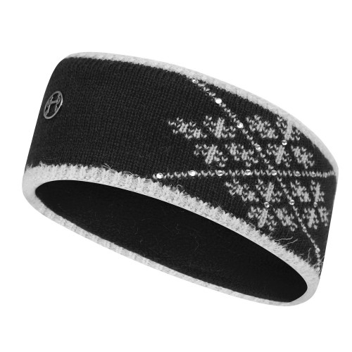 Crystal Knit Headband - Black/Grey O/S