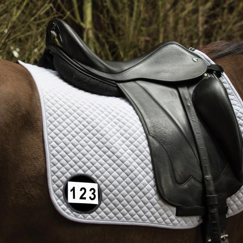 Saddle Cloth Number Holder - Black Patent - Single