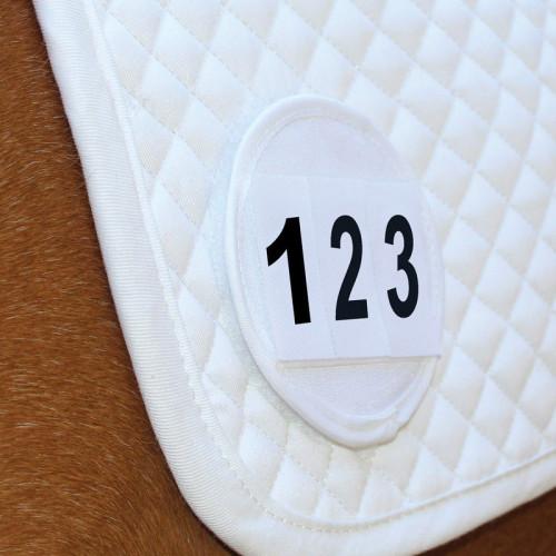 Saddle Cloth Number Holder - White - Single