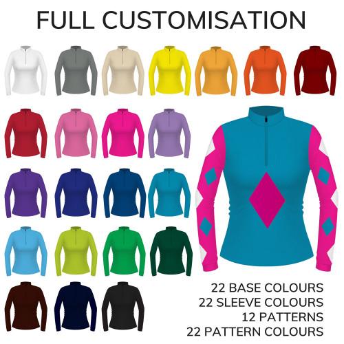 Womens Custom Spectrum Eventer Shirt - Full Custom Colours XS