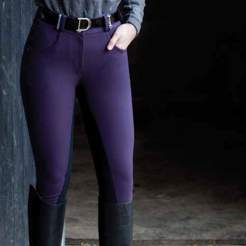 Snaffle Link Breeches  - Blackberry/Black 26