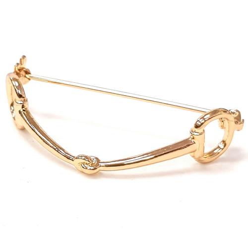 Snaffle Stock Pin - Gold