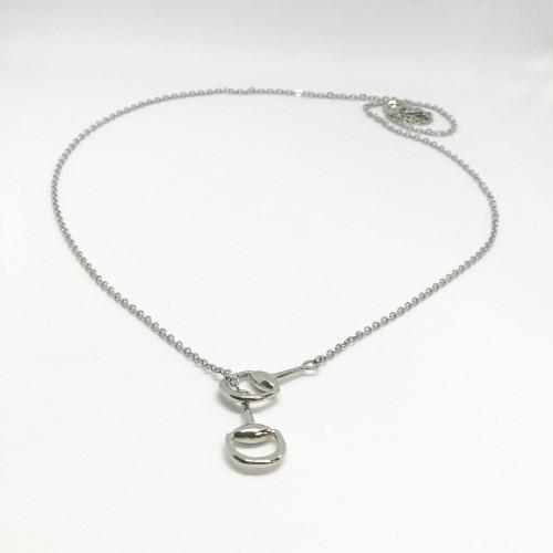 Snaffles Bit Necklace - Silver