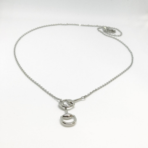 Snaffles Bit Necklace - Silver