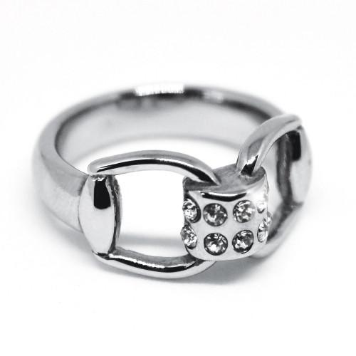 Snaffles Bit Diamante Ring - S/M
