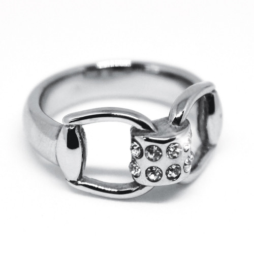 Snaffles Bit Diamante Ring - S/M