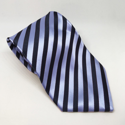 Broad Stripe Show Tie - Navy/Lt Blue