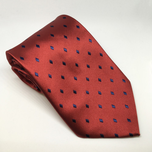 Diamond Show Tie - Burg/Navy
