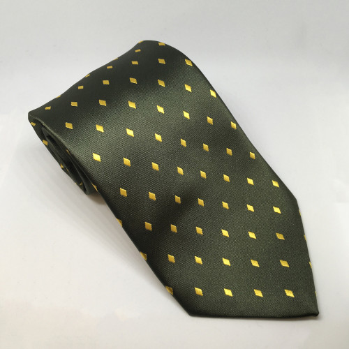 Junior Diamond Show Tie - Forest/Gold