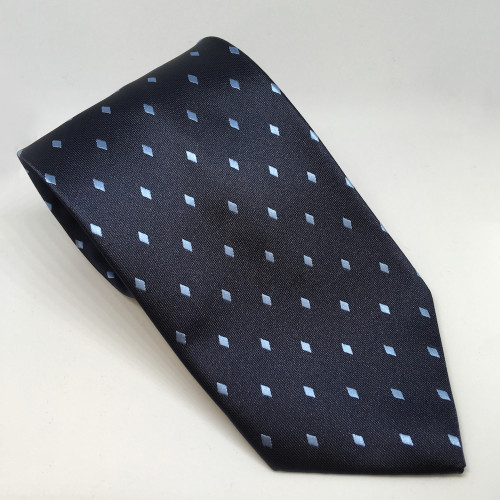 Diamond Show Tie - Navy/Lt Blue