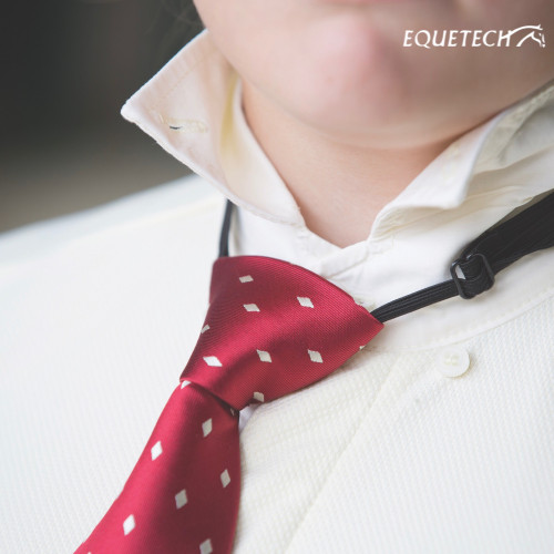Junior Elastic Diamond Ready-Tied Show Tie