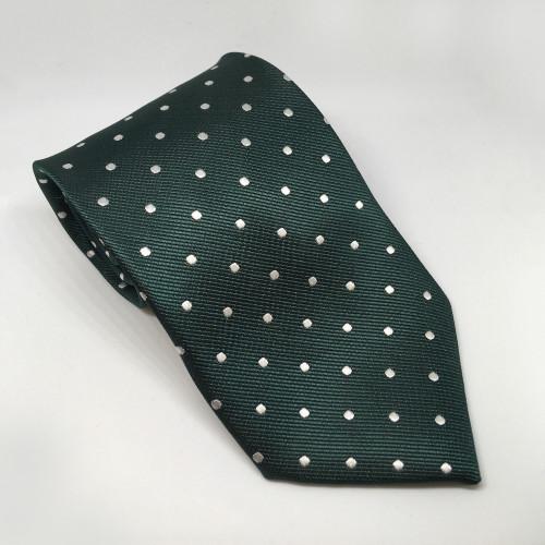 Polka Dot Show Tie - Green/White
