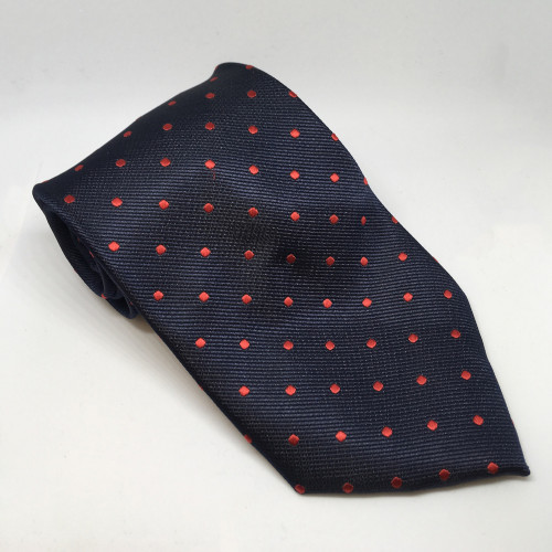 Polka Dot Show Tie - Navy/Red