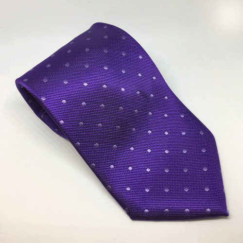 Polka Dot Show Tie - Purple/White
