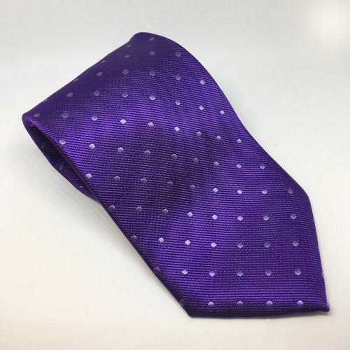 Polka Dot Show Tie - Purple/White