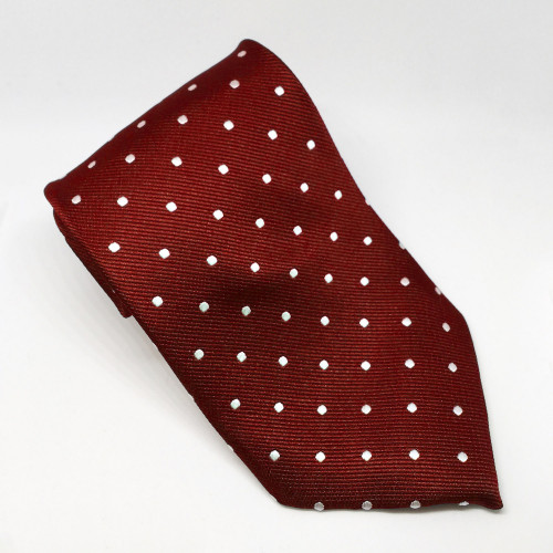 Polka Dot Show Tie - Red/White