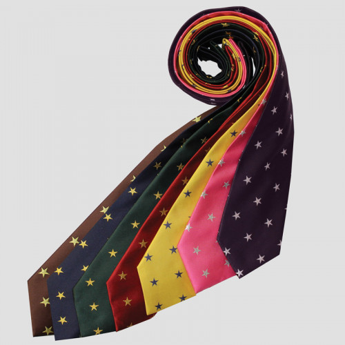 Stars Show Tie - Brown/Gold