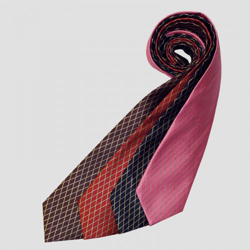 Solitaire Tie -  Brown/Gold