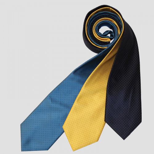 Ultra Pin Spot Show Tie - Cobalt/Navy
