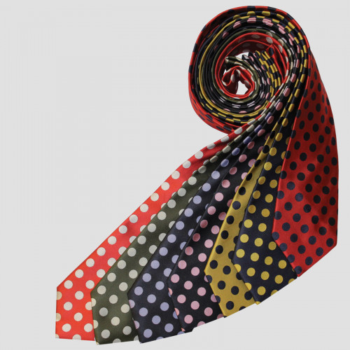Junior Uber Spot Tie - Red/Navy