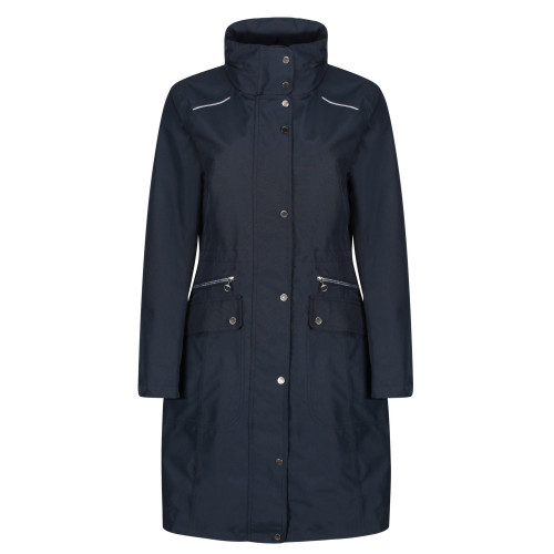 Venture Waterproof Trench Coat - Navy XS
