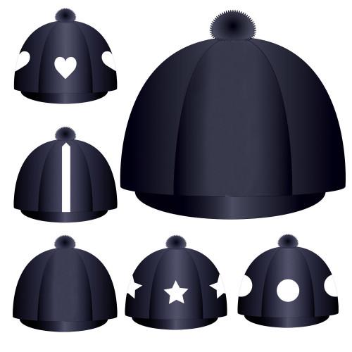 Custom Lycra Hat Silk -  Navy