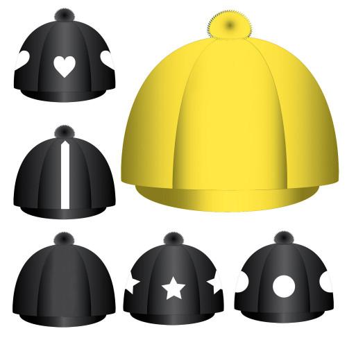 Custom Lycra Hat Silk -  Yellow