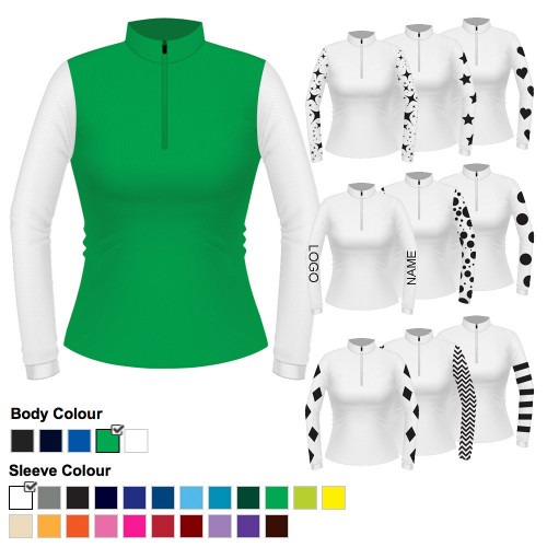 Womens Custom Cross Country Shirt - Airflow Green S