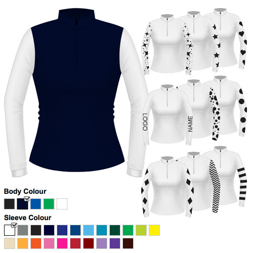 Womens Custom Cross Country Shirt - Airflow Navy L