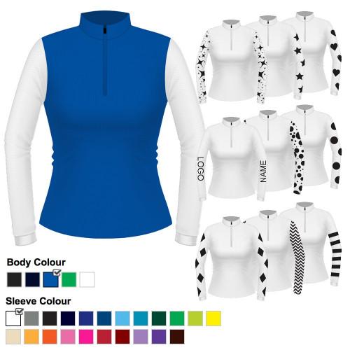Womens Custom Cross Country Shirt - Royal