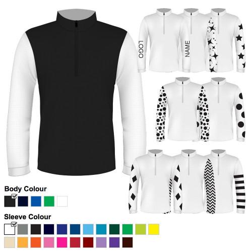 Mens Custom Cross Country Shirt - Black