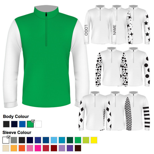 Junior Custom XC Airflow Shirt - 28 Green /