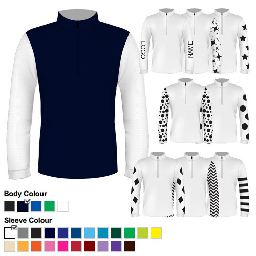 Mens Custom Cross Country Shirt - Navy