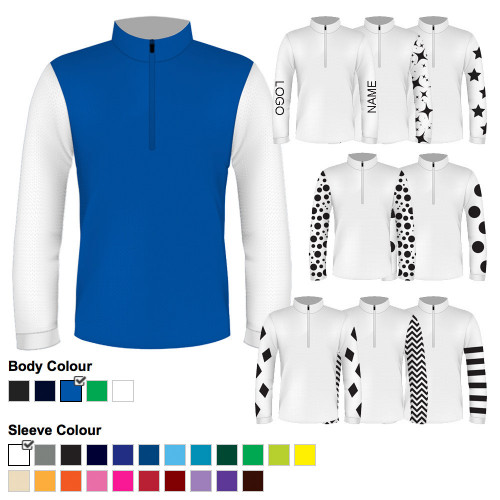 Junior Custom Cross Country Shirt - Royal