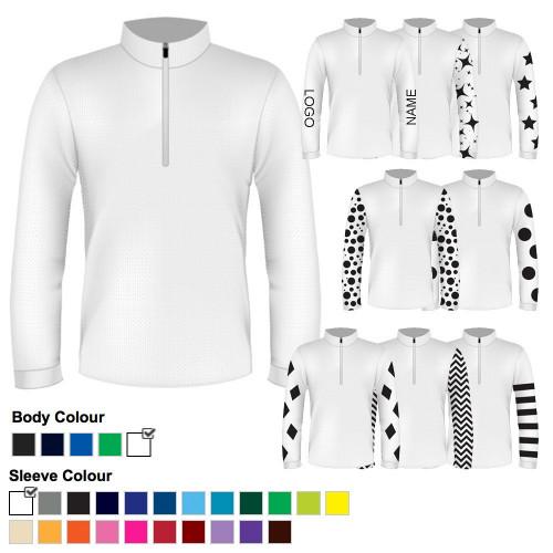 Mens Custom Cross Country Shirt - White