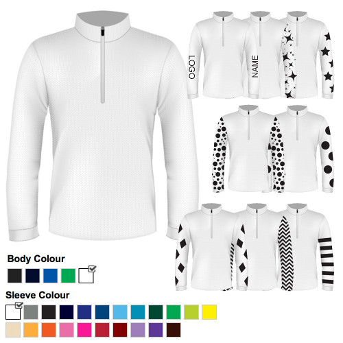 Mens Custom Cross Country Shirt - White
