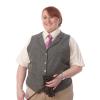 Fen Lapel Tweed Waistcoat  - Green 38